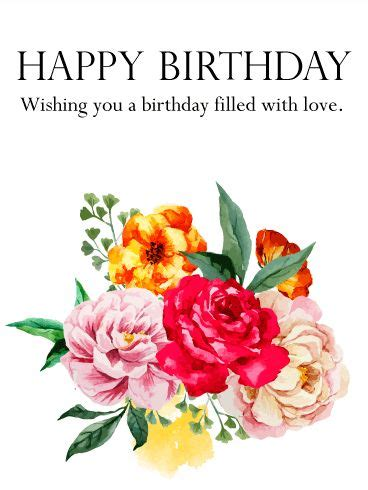 birthday flower card message 18 best images about flower birthday cards on