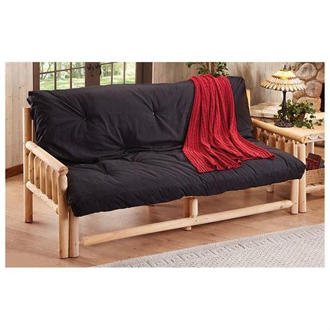 log futon castlecreek log futon frame 618902 living room at
