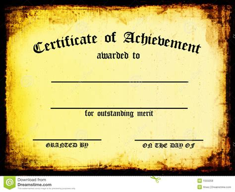 Records Of Certificates Certificate Of Achievement Royalty Free Stock Photos Image 1555058