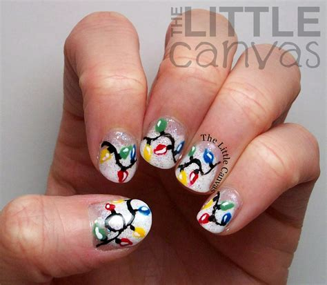 christmas lights nail art christmas nail design