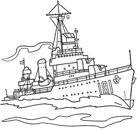 barco guerra dibujo barcos de guerra para colorear imagui