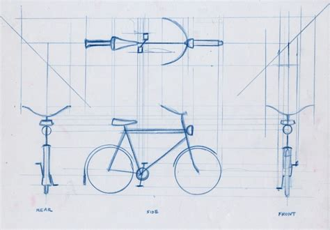9 Drawings For Projection by Orthographic Bike Orthographic Drawing