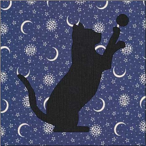 Applique Cat Quilt Patterns by Cat Silhouette Pattern Cat Quilt Block Quilt Appliqu 233