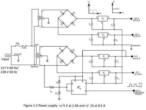 integrated circuit vs microprocessor power supply for integrated circuit ics and microprocessor electronics project