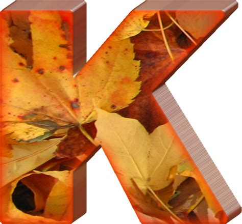 printable leaves with letters presentation alphabets fall leaves letter k
