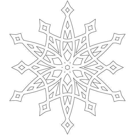 free coloring pages of snowflakes