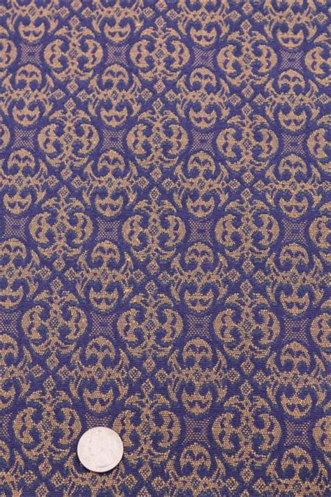 Vintage Upholstery by Vintage Upholstery Fabric Royal Purple Violet Blue Gold