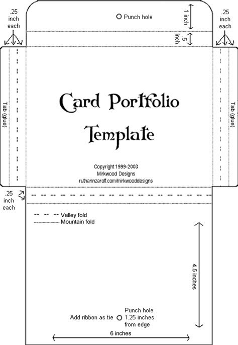 mirkwood designs card portfolio template