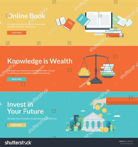 design online book flat design vector illustration concepts online stock