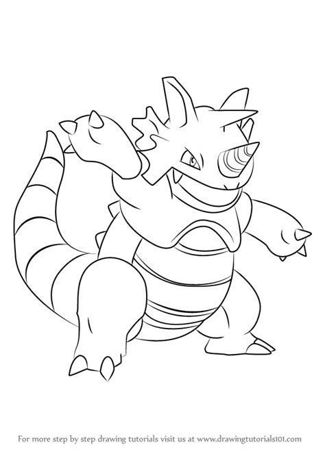 pokemon coloring pages rhyperior learn how to draw rhydon from pokemon pokemon step by