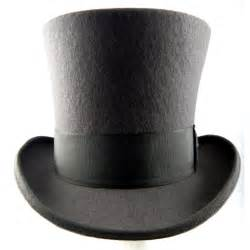 scala mad hatter top hat wool grey tall top hat