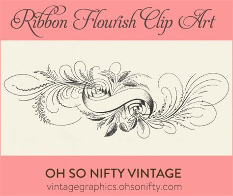 calligraphy ribbon banner labels printables pinterest 1000 images about clip art flourishes vectors