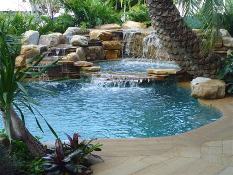 pool fountains and waterfalls pool waterfalls lighthouse point florida traditional