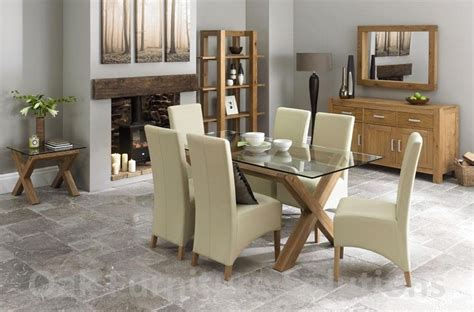 glass and oak dining table and chairs 20 ideas of oak and glass dining tables and chairs