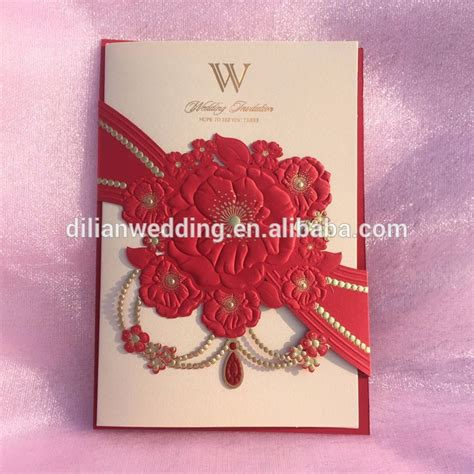 Wedding Invitation Cards Buy by New Embossing Flower Laser Cut Wedding Cards Invitation
