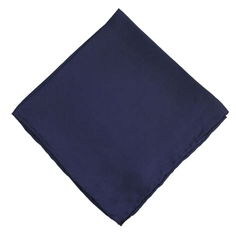 Lucky Sunday Rawis Square Navy plain navy blue silk pocket handkerchief square