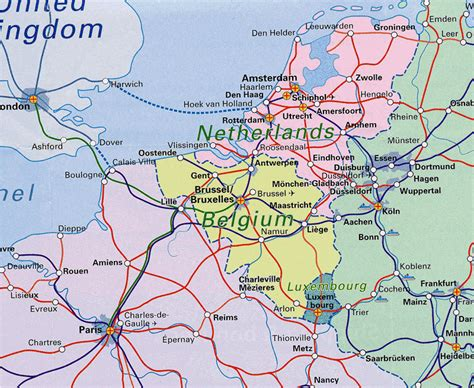 map of netherlands belgium and map of netherlands and belgium benelux railway map