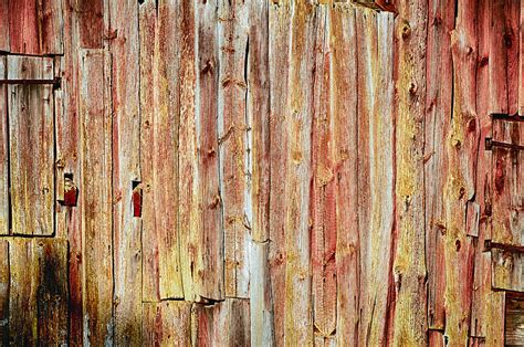 Inside Barn Door Old Grunge Wooden Background Photograph By Christian Lagereek