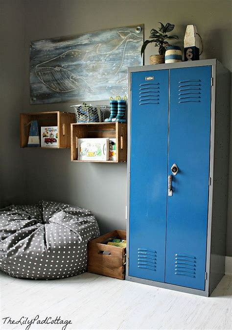 boys bedroom locker remodelaholic 50 smart toy storage solutions