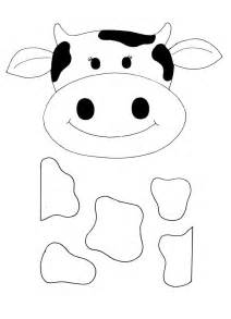 cow template cow mask template cake ideas and designs