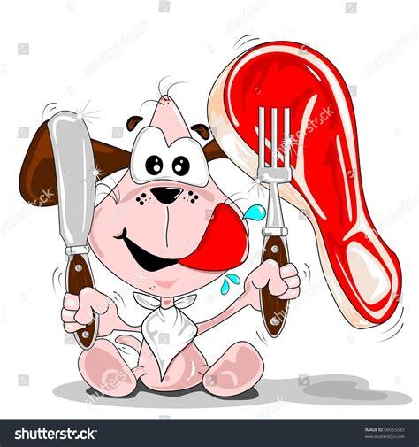 blade steak stock vectors vector clip art shutterstock a cartoon dog with a steak knife fork napkin stock