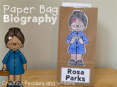 rosa parks book report a quot paper bag biography quot about rosa parks facts