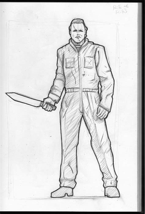 28 Michael Myers Coloring Pages How To Draw Michael Michael Myers Coloring Pages