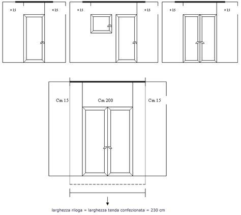 altezza porta finestra tende su misura per interni sartoriali artigianali