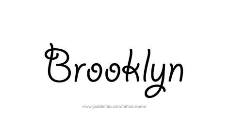 brooklyn tattoo designs name designs