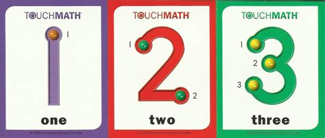 printable math number cards free printable touch math worksheets search results