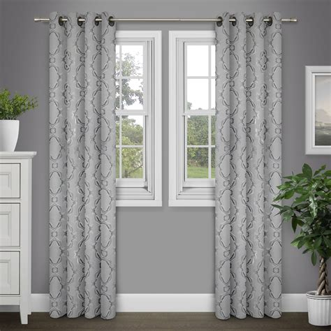 90 Inch Grommet Curtains Brinley Home Sare 84 Inch Grommet Top Jacquard Curtain