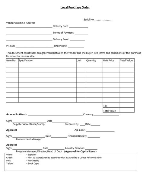 40 Free Purchase Order Templates Forms Sles Excel Word Purchase Order Template Docs