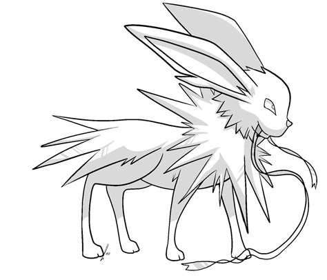 pin pokemon jolteon colouring pages on pinterest