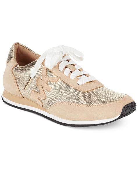 michael kors michael stanton trainer sneakers in metallic