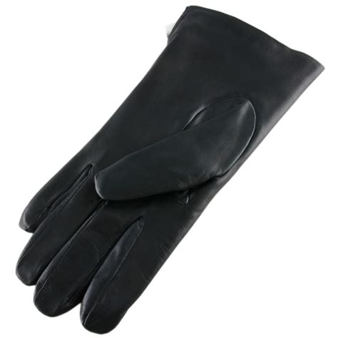 Glove Leather New Black For And Lace Back Knope lyst black co uk black leather gloves with rabbit lining