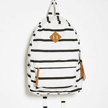 Striped Backpack classic striped backpack from forever 21