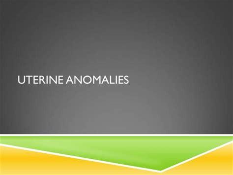 Uterine Anomalies Ob Gyn Authorstream Gynecology Ppt Templates Free