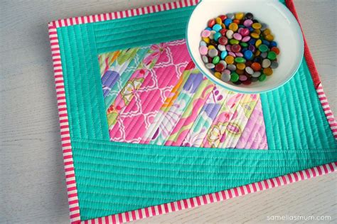 How To Make Quilted Placemats by Free Quilt Pattern Wonky Scrappy Quilted Placemat