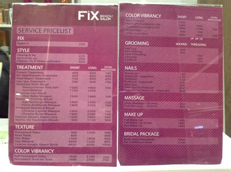 fix bench salon fix bench salon at sm san lazaro branch the foodinista