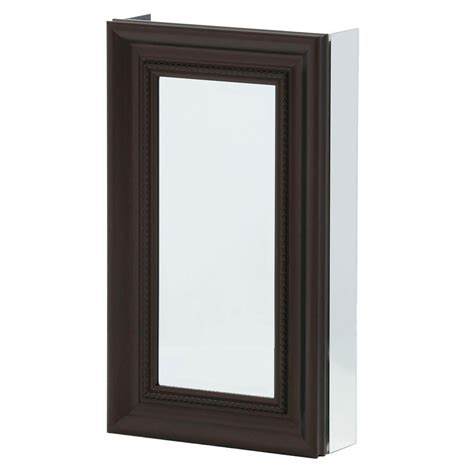 black framed medicine cabinet pegasus 15 in x 26 in framed recessed or surface mount
