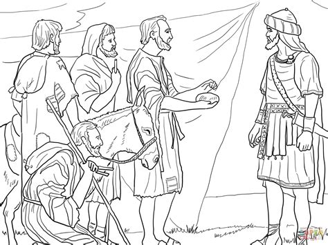 Joshua 7 Coloring Pages gibeonites trick joshua coloring page free printable