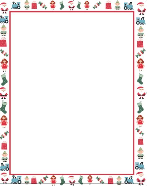 Photos of free christmas letter border templates christmas border