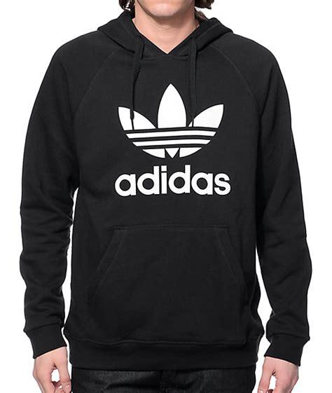 adidas hoodie adidas originals trefoil black hoodie zumiez