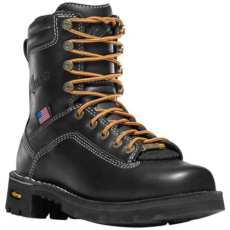danner s quarry 7 in black waterproof work boot 17323