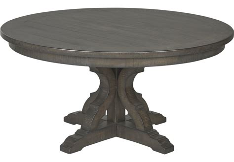 Westbrook Gray Round Dining Table   Dining Tables Colors