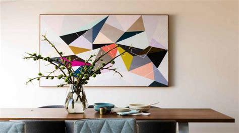 Beau Meubles Salle A Manger Design #3: tableau-abstrait-moderne-motifs-g%C3%A9om%C3%A9triques-salle-manger.jpg