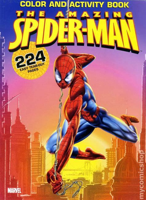 comic books in spider man coloring book