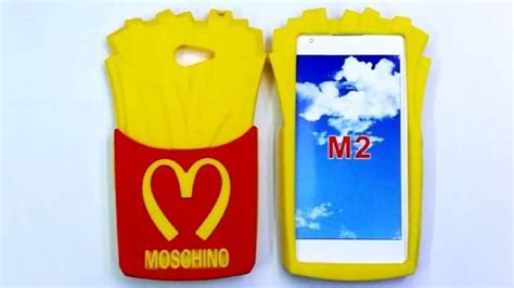 Silicon Casing Softcase 3d Sony Xperia M M2 M5 3d mcdonalds fries chips soft silicone rubber phone for sony xperia m2 s50h m 2 back