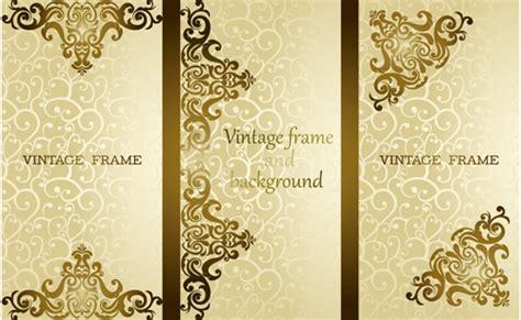luxury vintage frame vector background free free download