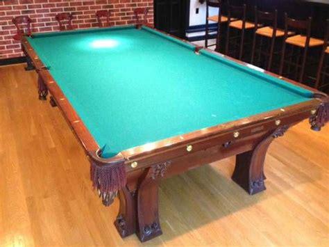 brunswick balke collender pool table brunswick balke collender pfister 8 antique pool table